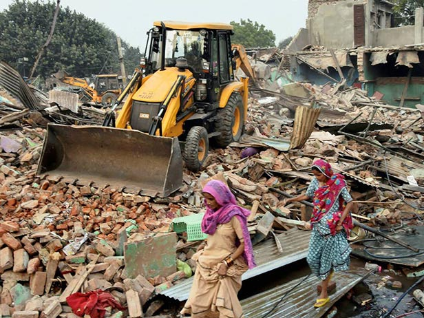 Gurugram Civic Body Demolishes