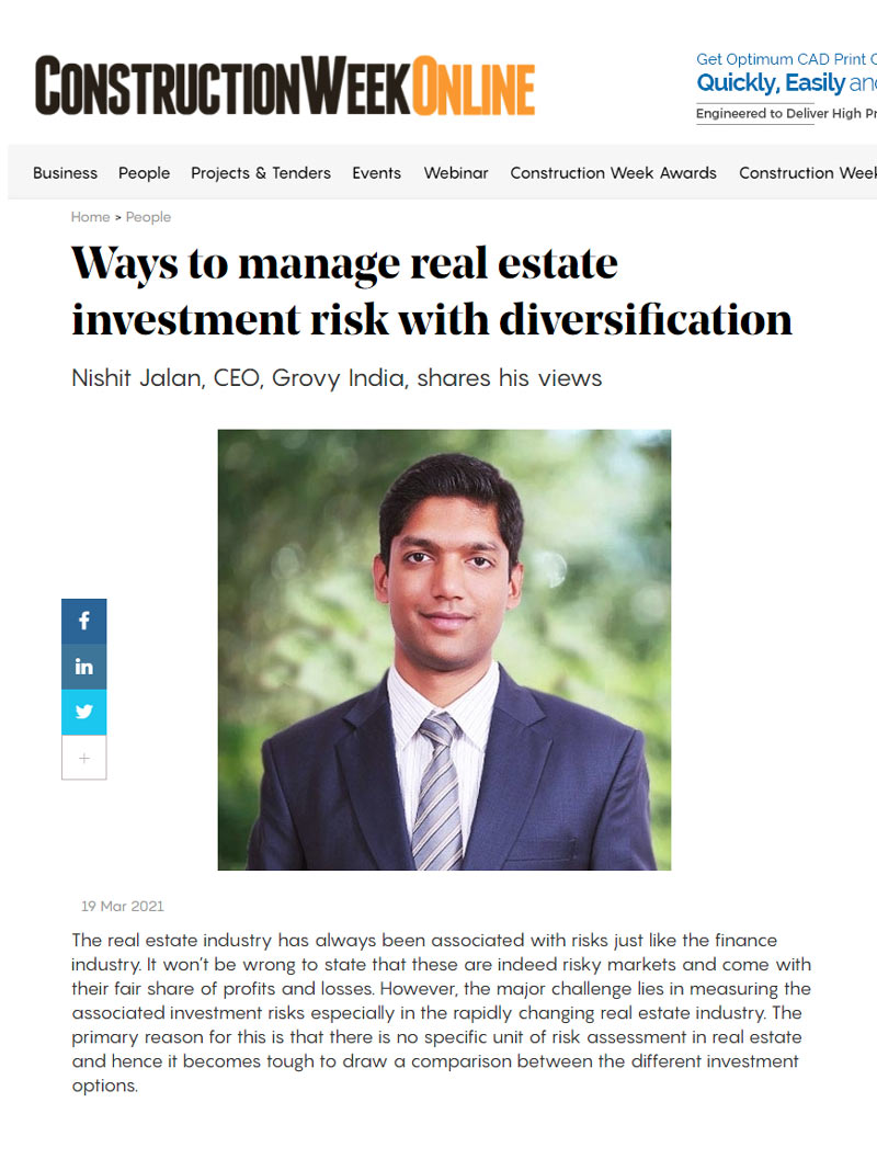 article shared with the journalist from Construction Week India