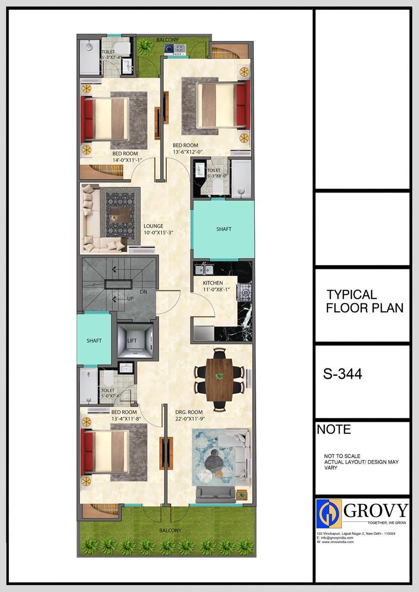 S-344, Typical Floor Plan