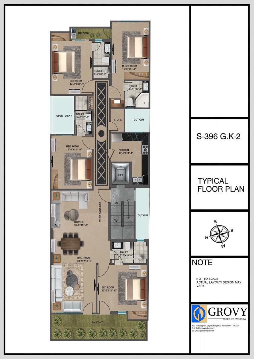 S-396, Typical Floor Plan